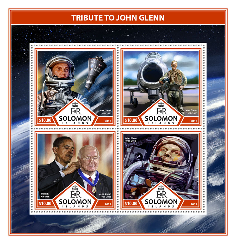 John Glenn - Issue of Solomon islands postage stamps