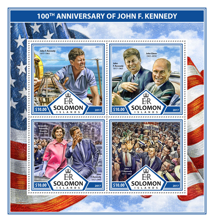 John F. Kennedy - Issue of Solomon islands postage stamps