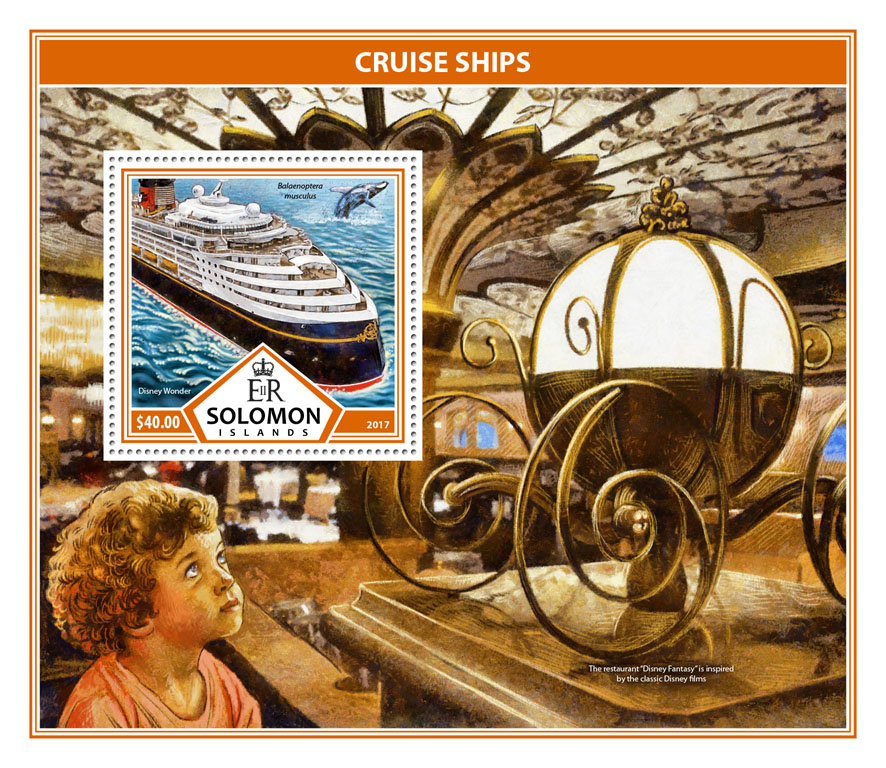 Cruise ships - Issue of Solomon islands postage stamps