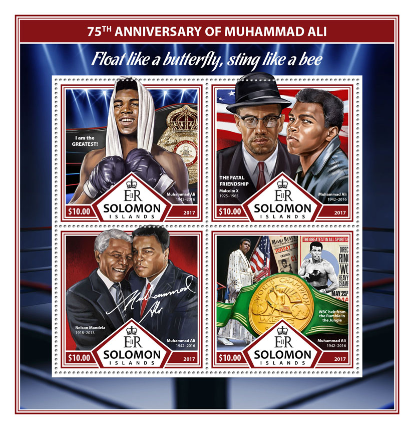 Muhammad Ali - Issue of Solomon islands postage stamps