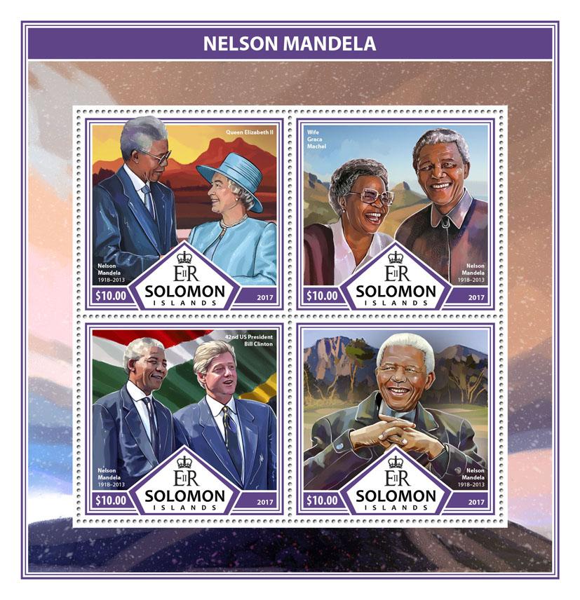 Nelson Mandela - Issue of Solomon islands postage stamps