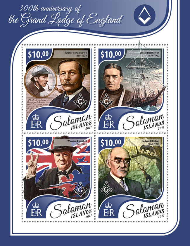 Grand Lodge of England - Issue of Solomon islands postage stamps