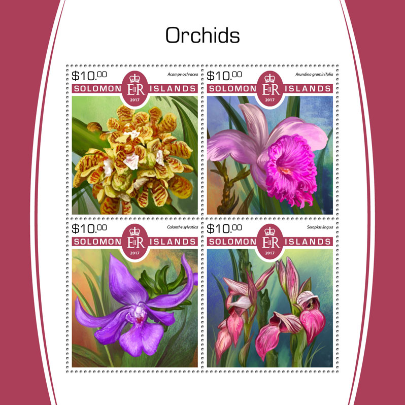 Orchids - Issue of Solomon islands postage stamps