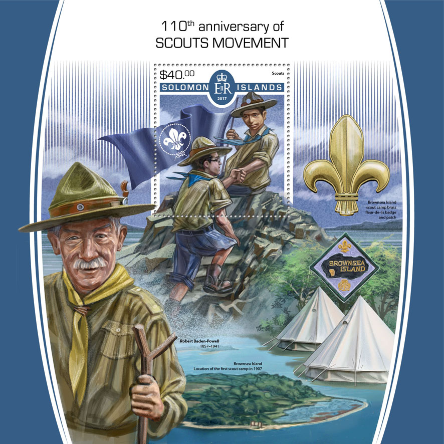 Scout - Issue of Solomon islands postage stamps