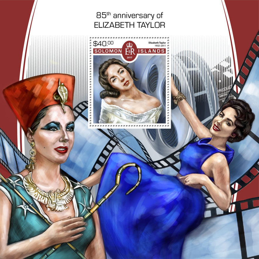 Elizabeth Taylor - Issue of Solomon islands postage stamps