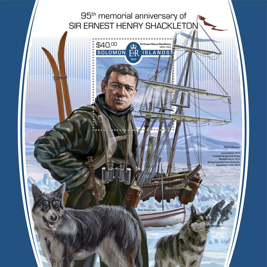 Ernest Henry Shackleton - Issue of Solomon islands postage stamps